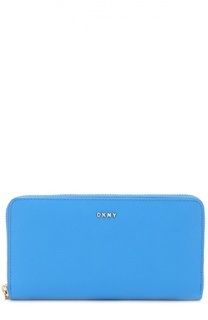Бумажник из сафьяновой кожи на молнии DKNY