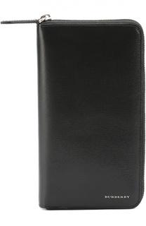 Кожаное портмоне на молнии с отделением для кредитный карт Burberry