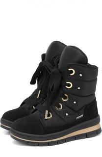 Высокие текстильные ботинки с замшевой отделкой Jog Dog