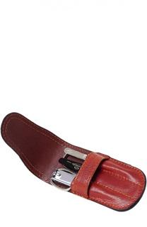 Светло-коричневый маникюрный набор из 4ех. предметов в кожаном чехле Truefitt&Hill Truefitt&Hill