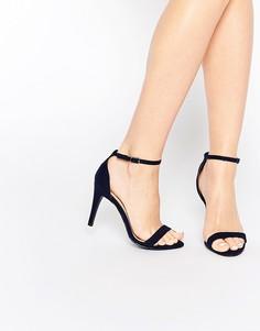Босоножки на каблуке в минималистском стиле New Look - Синий