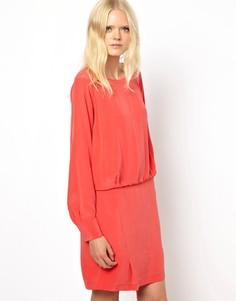 Платье из стираного шелка See by Chloé - Оранжевый