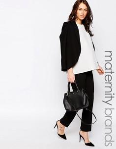 Строгие брюки для беременных New Look Maternity - Черный