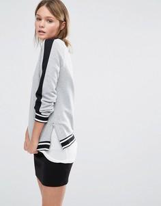 Свитшот в стиле колор блок New Look - Серый