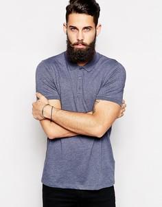 Трикотажная футболка-поло ASOS - Темно-синий