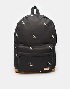 Рюкзак с принтом птиц Spiral - Черный