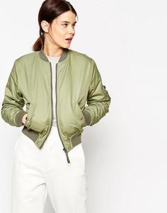 Укороченная куртка-пилот ASOS - Зеленый