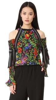 Блуза с цветочным рисунком открытыми плечами 3.1 Phillip Lim