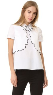 Блуза с воротником с оборками Vivetta