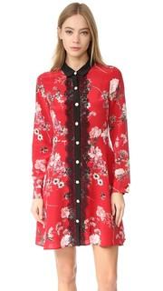 Кружевное платье с спереди цветочным рисунком воротником The Kooples