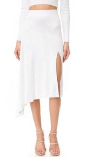 Асимметричная миди-юбка с драпировкой Cushnie Et Ochs