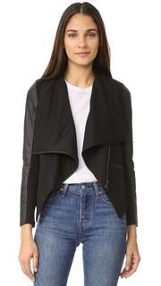 Асимметричная куртка с драпировкой David Lerner