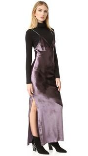 Бархатное платье-комбинация Fleur du Mal
