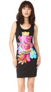 Платье без рукавов Moschino
