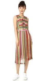 Платье в полоску без рукавов No. 21
