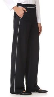 Широкие брюки с накладными карманами Tibi
