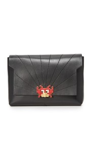 Клатч Bathurst Space Invaders Anya Hindmarch