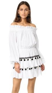 Платье Lou с помпонами Caroline Constas