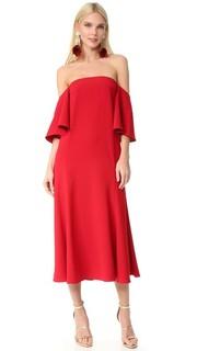 Платье с открытыми плечами и струящимися рукавами Edit