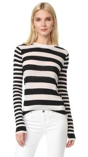 Кашемировый свитер в полоску с округлым вырезом Joseph