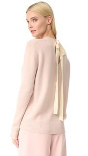 Кашемировый свитер с округлым вырезом и завязками сзади. Joseph
