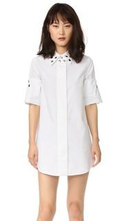 Платье-рубашка со сборками и люверсами MM6
