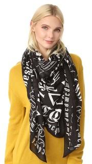 Квадратный шарф с буквами в готическом стиле McQ - Alexander Mc Queen