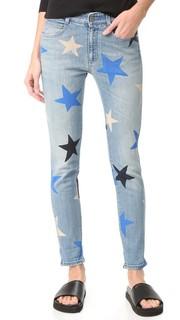 Узкие джинсы-бойфренды с принтом в виде звезд Stella Mc Cartney