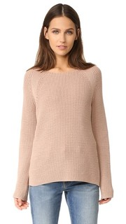 Пуловер с округлым вырезом и отстрочкой, создающей вафельную текстуру Vince