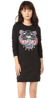 Платье-толстовка с вышитым тигром Kenzo