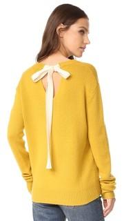 Кашемировый свитер с V-образным вырезом и завязками сзади Joseph