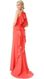 Вечернее платье с оборками Lela Rose