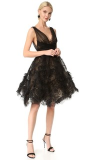 Коктейльное платье из тюля Marchesa