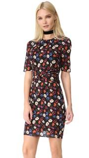 Шелковое платье с фиалковым принтом Whistles