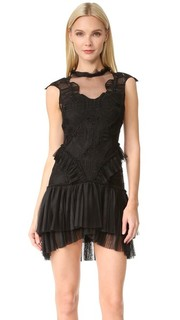 Контурное многослойное платье Delicate с оборками Jonathan Simkhai