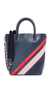 Миниатюрная объемная сумка с короткими ручками Mother of Pearl