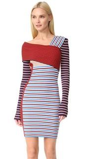 Асимметричное платье Msgm