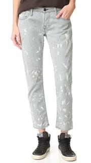 Укороченные джинсы-скинни с вертикальными полосками NSF