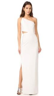 Асимметричное вечернее платье в стиле бандо Michelle Mason