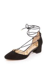 Туфли на каблуке Loretta со шнуровкой Sam Edelman