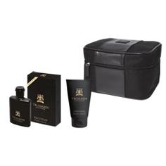 TRUSSARDI Подарочный набор Black Extreme Набор муж. Black Extreme (туал.вода 50мл+гель д/душа 100мл+ косметичка)