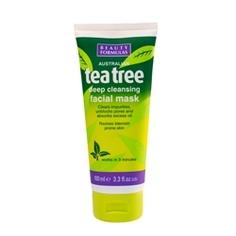 BEAUTY FORMULAS Маска глубокой очистки для лица Чайное дерево 100 мл