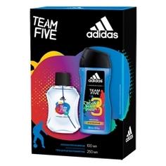 ADIDAS Подарочный набор Team Five Men Лосьон после бритья 100 мл + гель для душа 250 мл