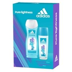 ADIDAS Подарочный набор Pure Lightness Парфюмерная вода, спрей 75 мл + гель для душа 250 мл