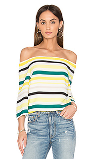 Cold shoulder striped top - 1. STATE