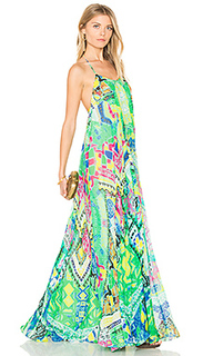 Long watercolor dress - ROCOCO SAND