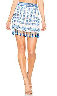 Мини-юбка с бахромой - ROCOCO SAND