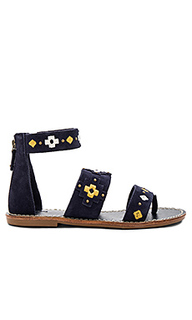 Embroidered three banded sandal - Soludos