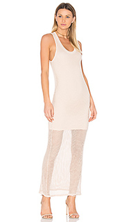Mesh tank dress dusty pink - MONROW