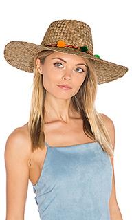 Pom pom farmers wide rim hat - Pitusa